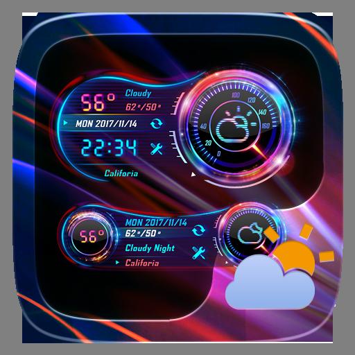 Speed Meter GO Weather Widget Theme