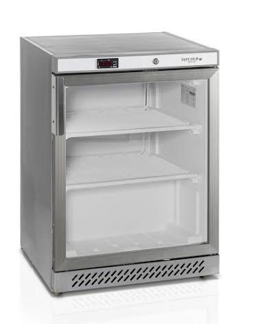 Frysskåp kompakt glasdörr inkl. 2 st hyllor UF200SG Tefcold