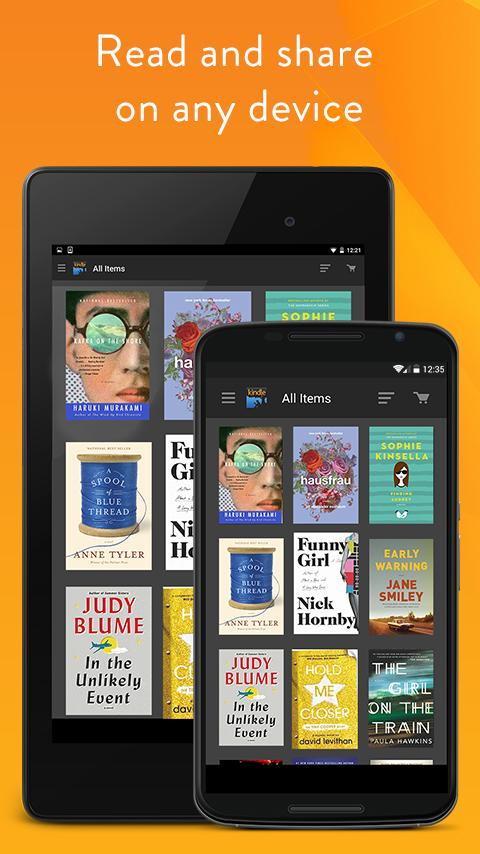 Amazon Kindle – zrzut ekranu