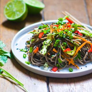 Sesame Soba Noodle Salad with Asparagus Ribbons