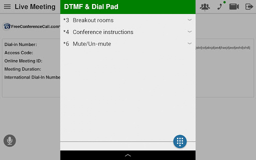 Free Conference Call 1.5.20.0 screenshots 15