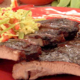 Asian Spice Rubbed Ribs with Plum-Ginger Glaze.