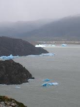 Photo: Blue ice chunks