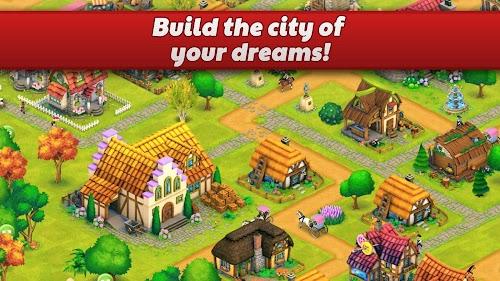 Screenshot 2 Town Village: Farm, Build, Trade, Harvest City 1.8.10 APK MOD