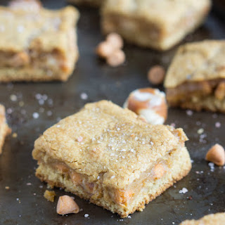 Salted (with browned butter) Vanilla-Caramel Butterscotch Cookie Bars.