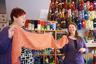 Photo: Kirkingwood Shawl... gorgeous new design by Fiona.  True Love!