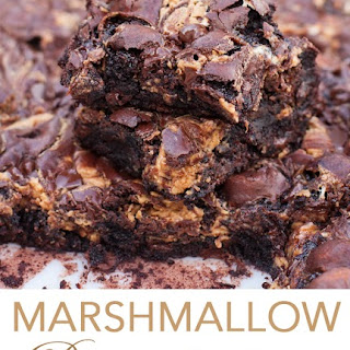 Marshmallow Peanut Butter Swirl Brownies.