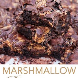 Marshmallow Peanut Butter Swirl Brownies.