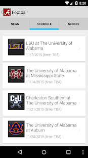 University of Alabama- screenshot thumbnail