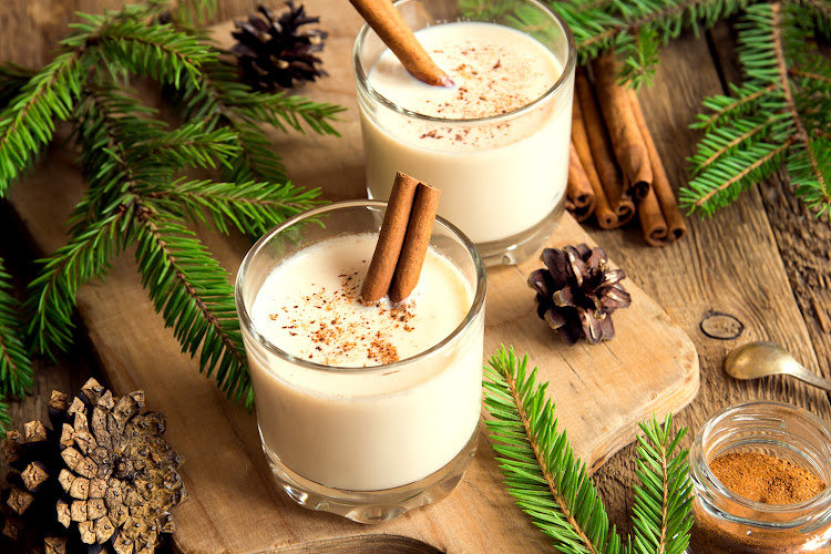 Eggnog cocktails are traditionally enjoyed in cold climates over Christmas