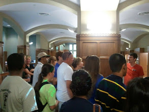 Photo: on the college tour - our stop in the Heard Library