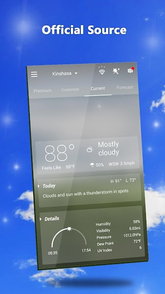 GO Weather Forecast Screenshot Image