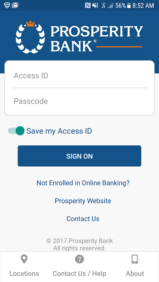 Prosperity Bank- screenshot