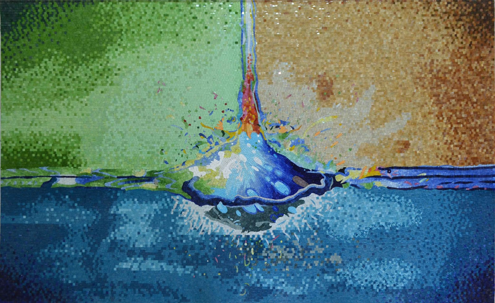 Non-pictorial Splash - Abstract Mosaic Art by Mozaico