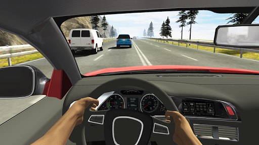 Racing in Car - screenshot