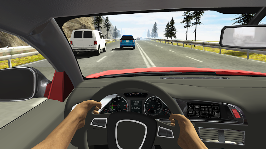 android Racing in Car Screenshot 1