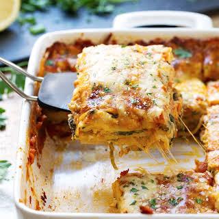 Creamy Tomato Lasagna Florentine.