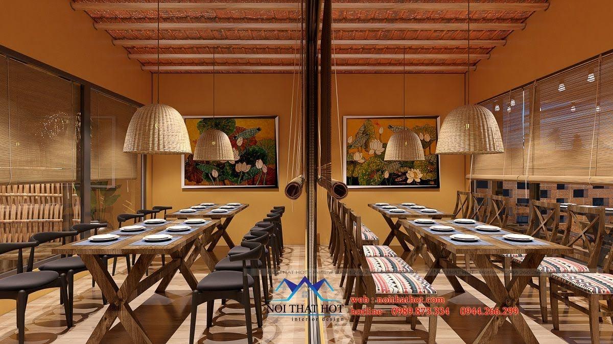 thiết kế nhà hàng đồng quê 5