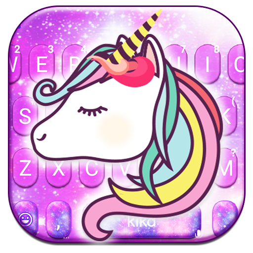 Adorable Galaxy Unicorn Keyboard Theme Icon