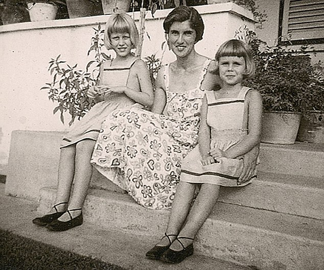 Joanna Lumley as a child with family