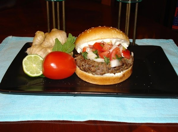 Eggplant Burger With Mint Salsa And Ginger Mayo Recipe