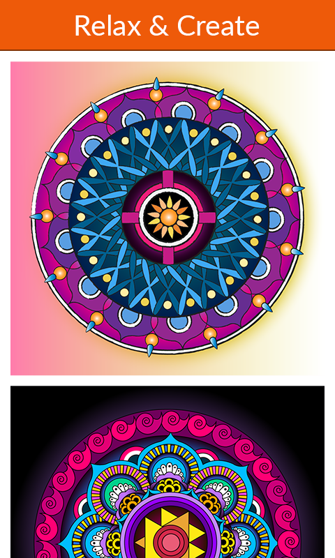 Mandala Coloring for Adults- screenshot