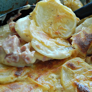 Cheesy Ham & Potato Casserole.