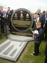 Photo: Battle of the River Plate Memorial in the Royal Naval Review Area at the National Arboretum. Exeter Flotilla donated £100 and was represented at the unveiling.