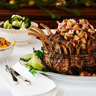Pork Crown Roast with Pear Stuffing