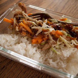 Chicken, Yam and Cabbage Stir-Fry