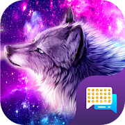 Neon Wolf SMS Free Emoji Theme