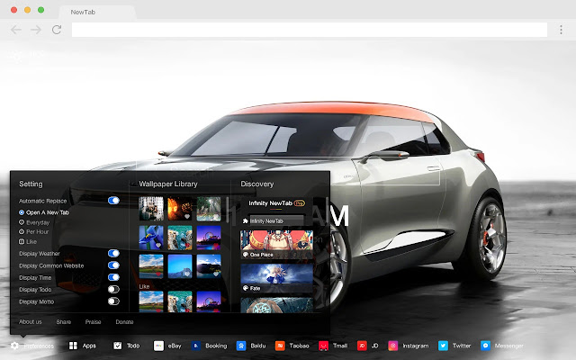 Concept Cars New Tab Page Cars HD Themes
