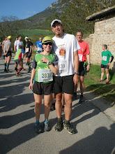 Photo: Toñi de Sarrios Zaragoza con un amigo de Tafalla  ¡¡no podía faltar un sarrio en esta carrera!!  perdón, una sarria.