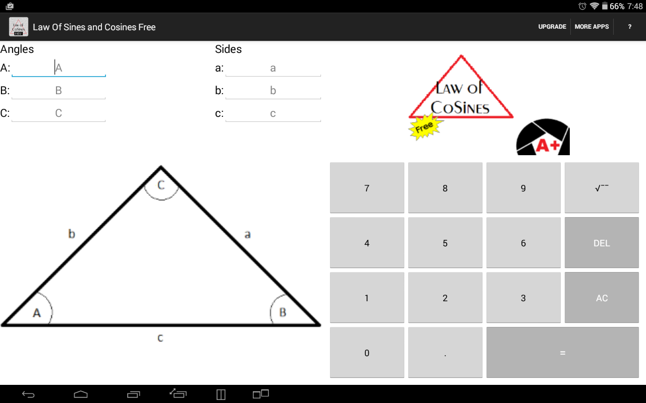Law of Sines and Cosines Free Android Apps on Google Play – Law of Sines Worksheet