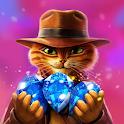 Indy Cat - Match 3 Puzzle Adventure icon