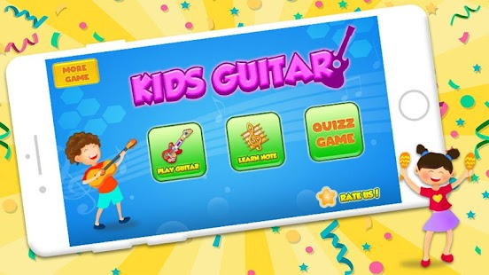 Pink Real Guitar for Kid - Music Kids Screenshot