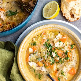 Restorative Greek Lemon Chicken Soup