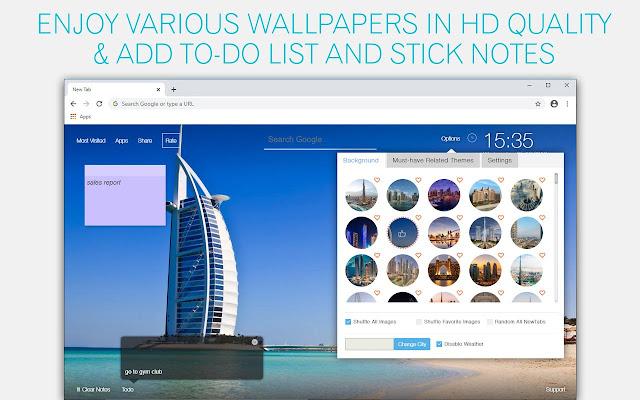 Dubai Wallpaper HD Dubai City New Tab