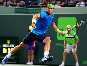 Photo: Rafael Nadal, of Spain, returns the ball to Radek Stepanek during the Sony Ericsson Open tennis tournament, Sunday, March 25, 2012, in Key Biscayne, Fla. Ivanovic won 6-2, 7-6. (AP Photo/J Pat Carter)⪩䈜䊮āāāā