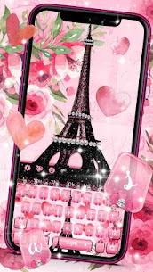 Pink Paris Eiffel Tower Keyboard Premium (Cracked) 1