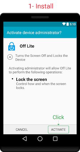 Off Lite Screen Lock
