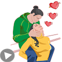 💞Love Animated Stickers for WhatsApp 💝 (GIF) icon
