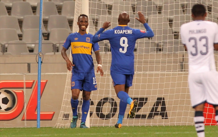 Teko Modise during the Absa Premiership match between Cape Town City FC and Platinum Stars at Cape Town Stadium on August 23, 2017 in Cape Town, South Africa.