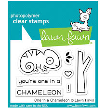 Lawn Fawn Clear Stamps 3X2 - One In A Chameleon