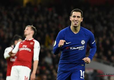 Un Courtois phénoménal et un Hazard buteur accrochés sur le fil par Arsenal