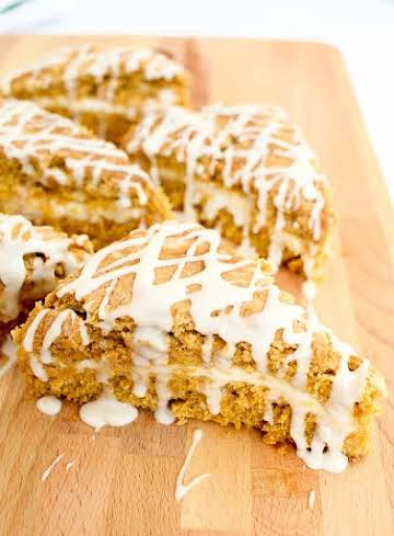 Pumpkin Scones with Cream Cheese Filling