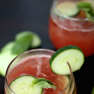 Cucumber Watermelon Basil Cooler