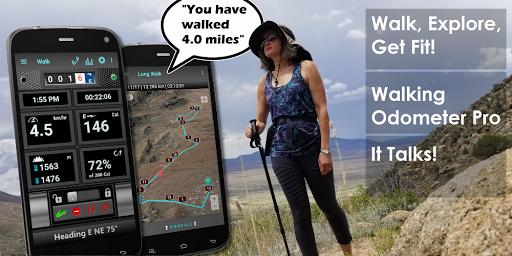Walking Odometer Pro: GPS Fitness Pedometer screenshots 1