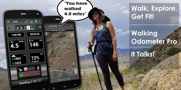 Walking Odometer Pro: GPS Fitness Pedometer Screenshot