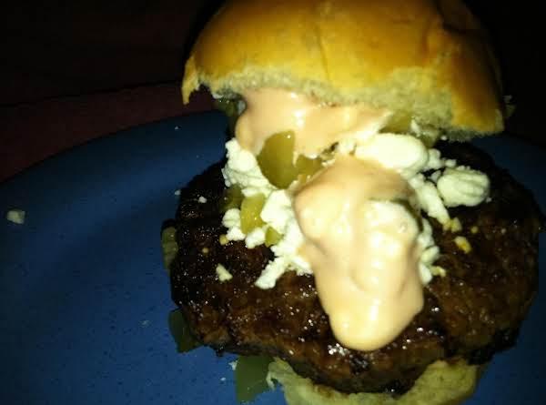 My Festy Feta Burger ! Recipe